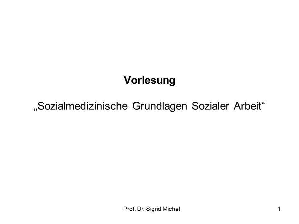 """Vorlesung """"Sozialmedizinische Grundlagen Sozialer Arbeit"""