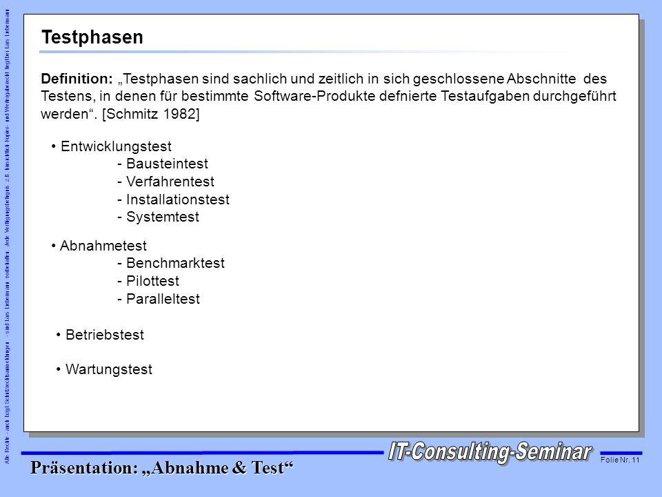 Testphasen