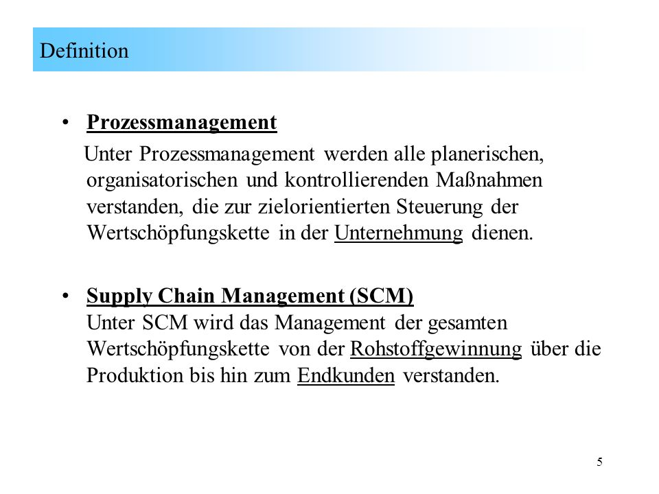 Definition Prozessmanagement