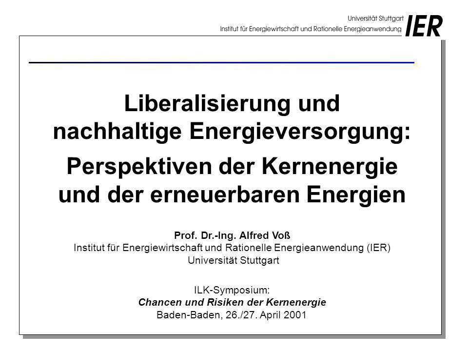 nachhaltige Energieversorgung: