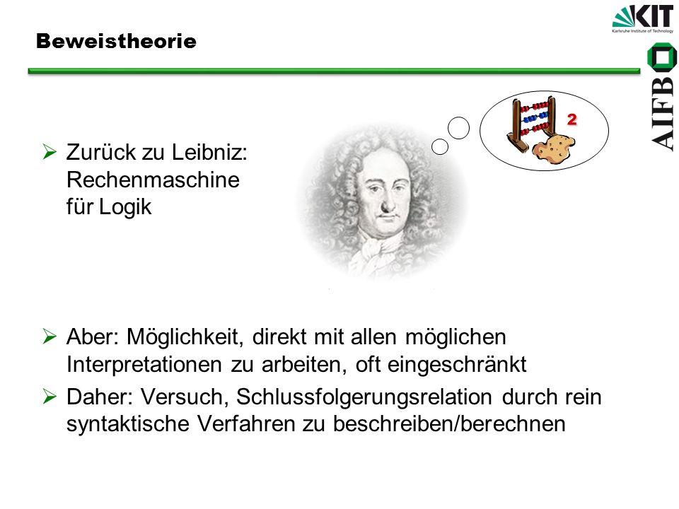 ² Zurück zu Leibniz: Rechenmaschine für Logik