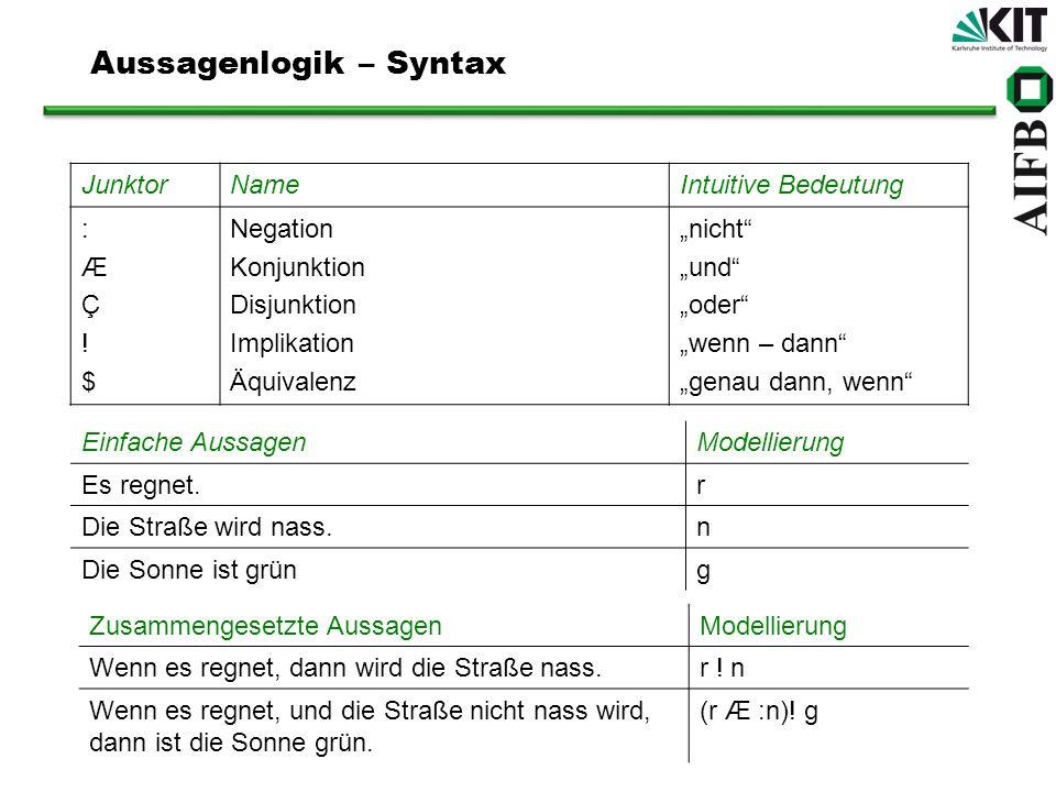 Aussagenlogik – Syntax