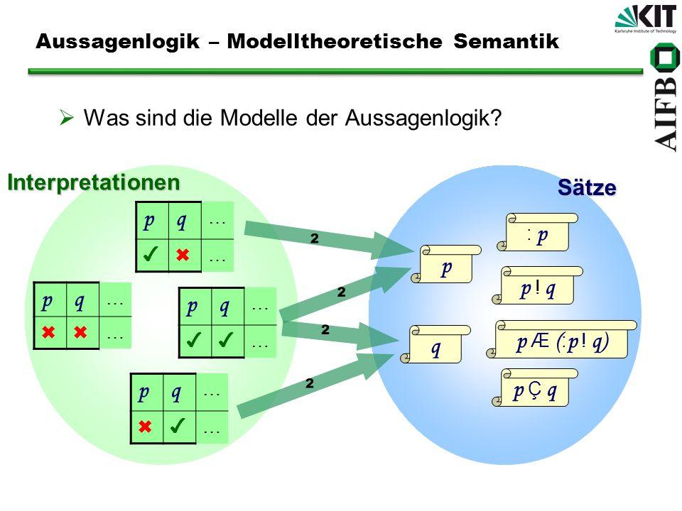 Aussagenlogik – Modelltheoretische Semantik