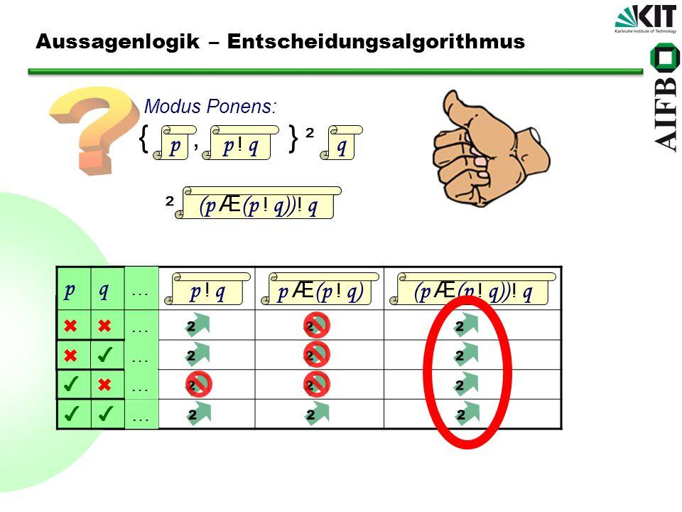 Aussagenlogik – Entscheidungsalgorithmus