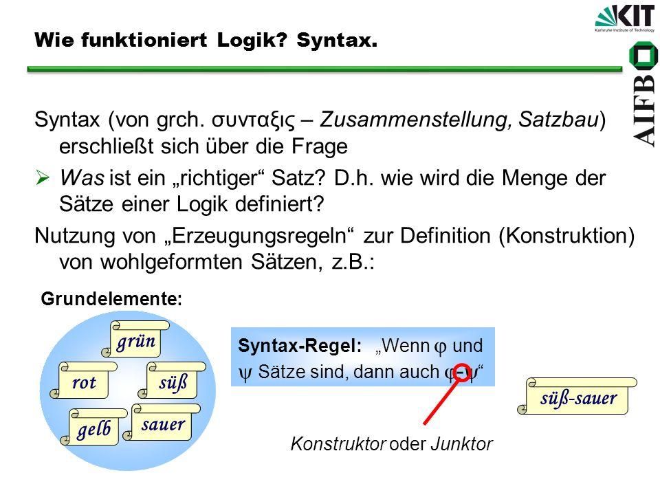 Wie funktioniert Logik Syntax.