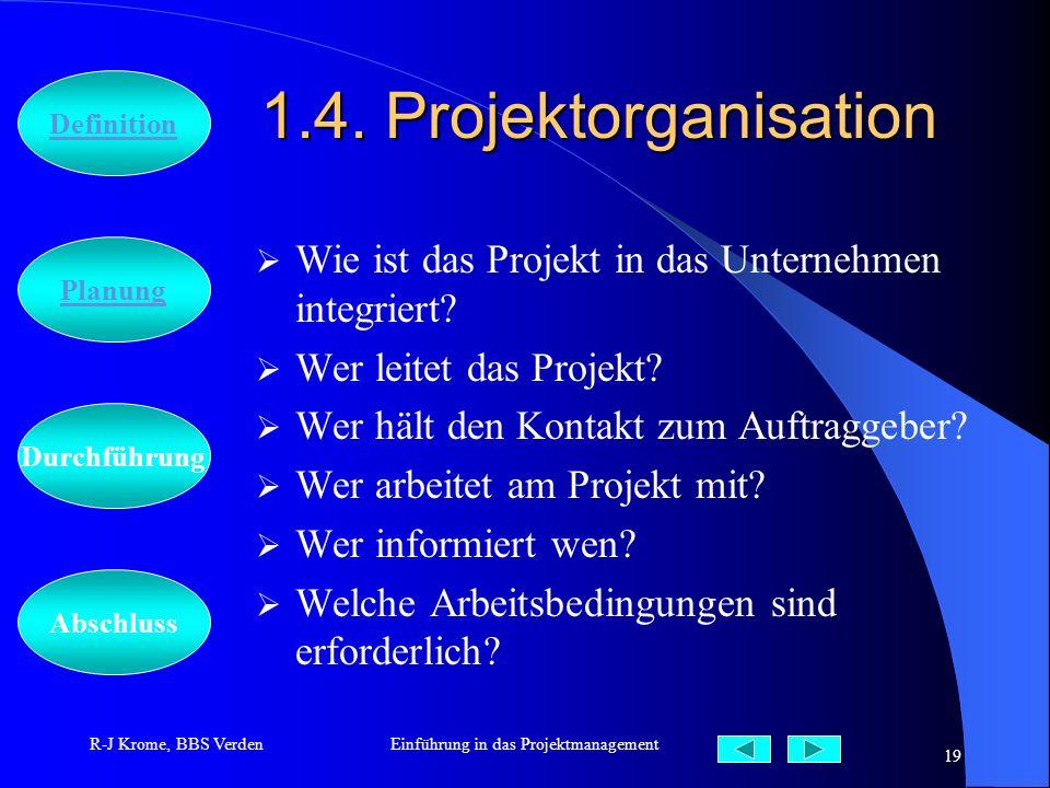Einführung in das Projektmanagement