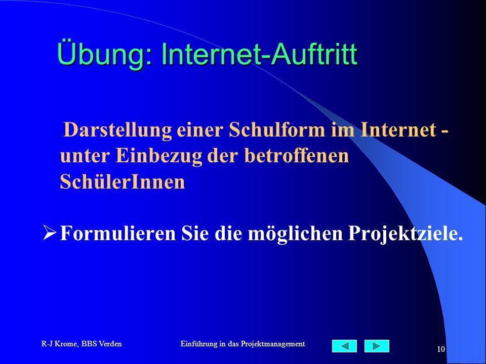 Übung: Internet-Auftritt