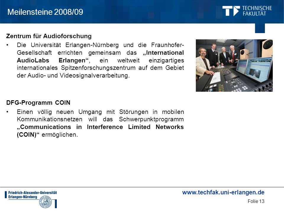 Meilensteine 2008/09 Zentrum für Audioforschung