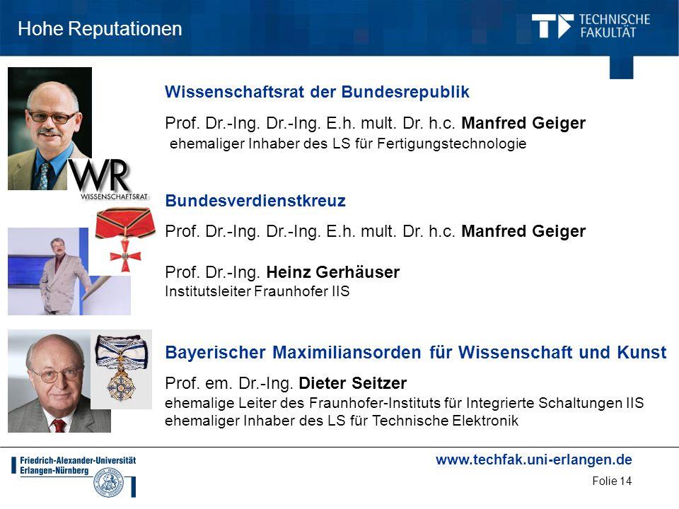 Hohe Reputationen Wissenschaftsrat der Bundesrepublik.
