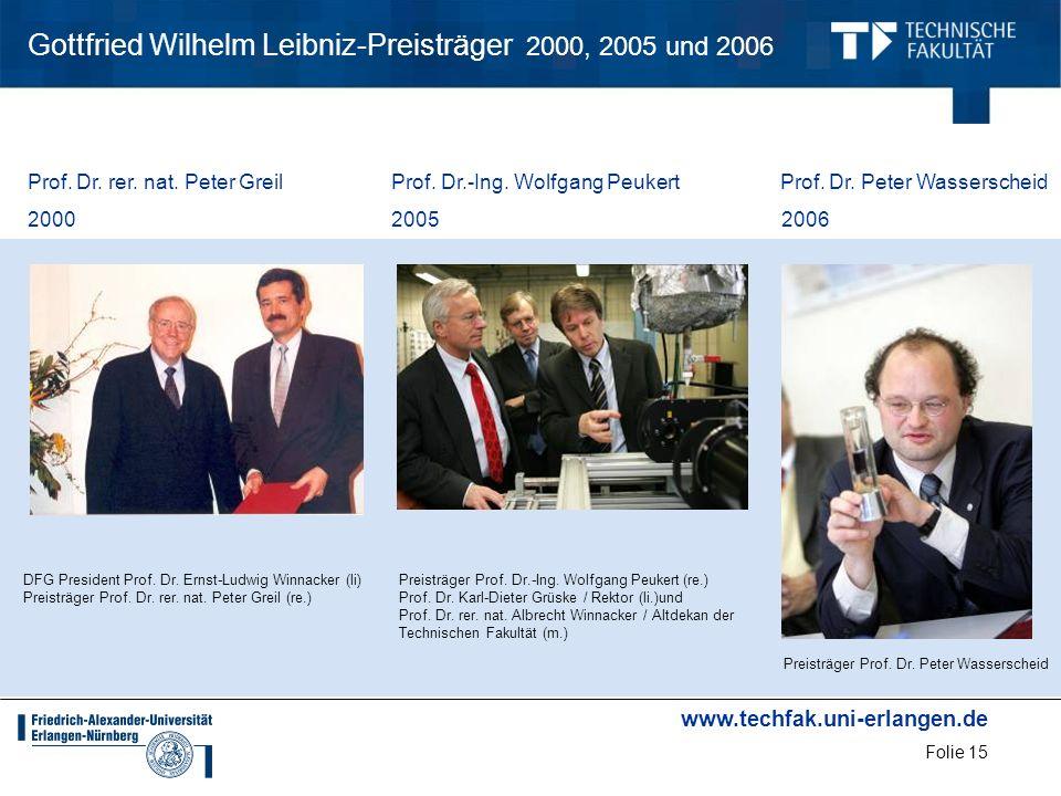Gottfried Wilhelm Leibniz-Preisträger 2000, 2005 und 2006