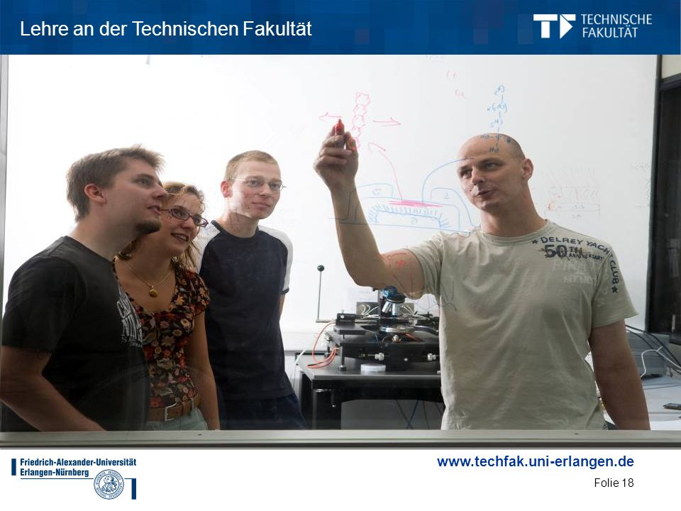 Lehre an der Technischen Fakultät