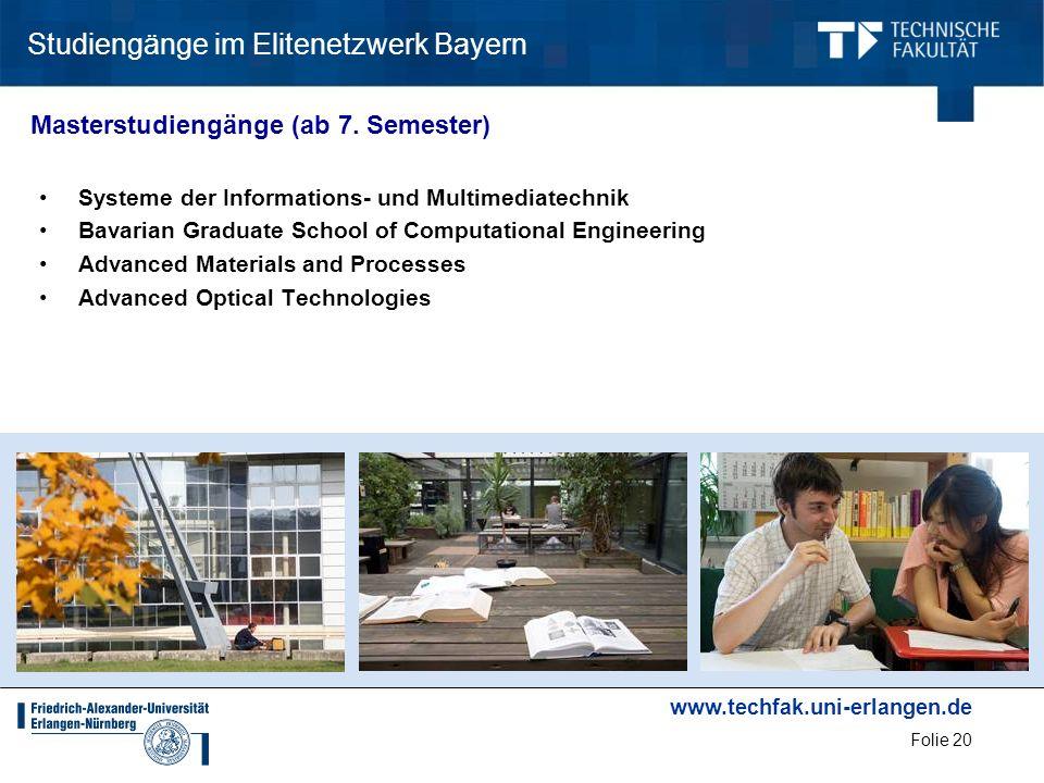 Studiengänge im Elitenetzwerk Bayern