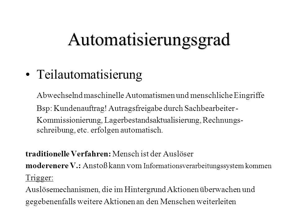Automatisierungsgrad