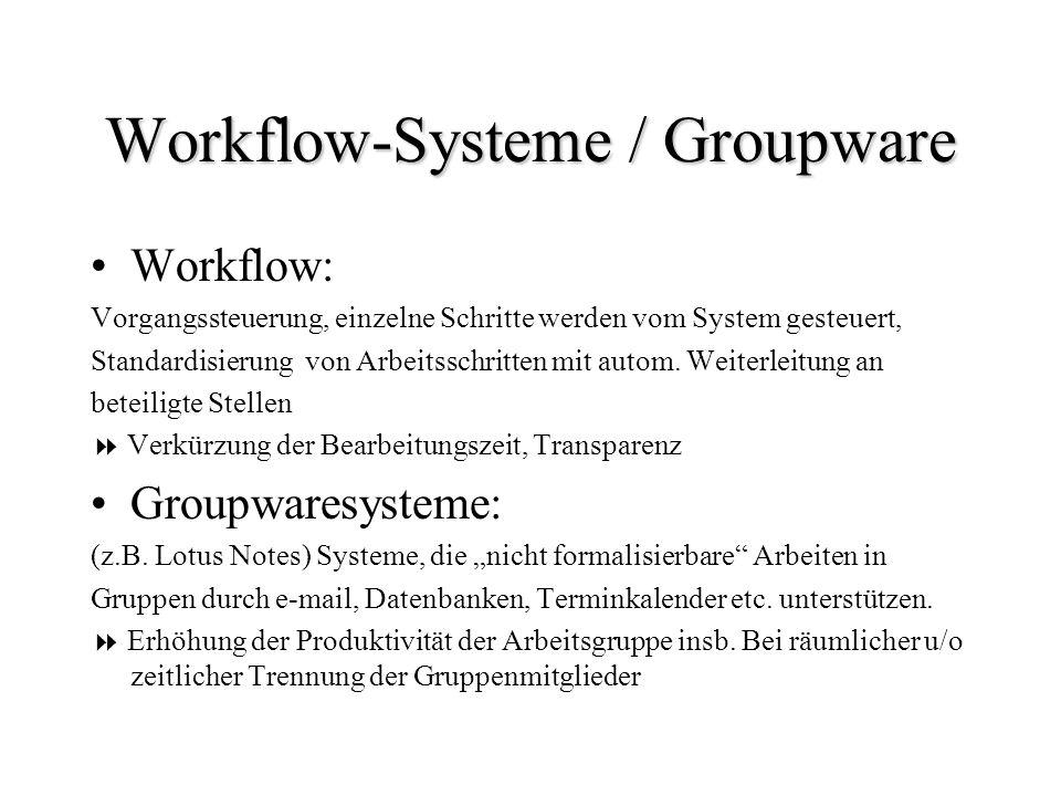 Workflow-Systeme / Groupware