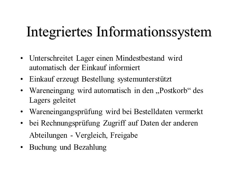 Integriertes Informationssystem