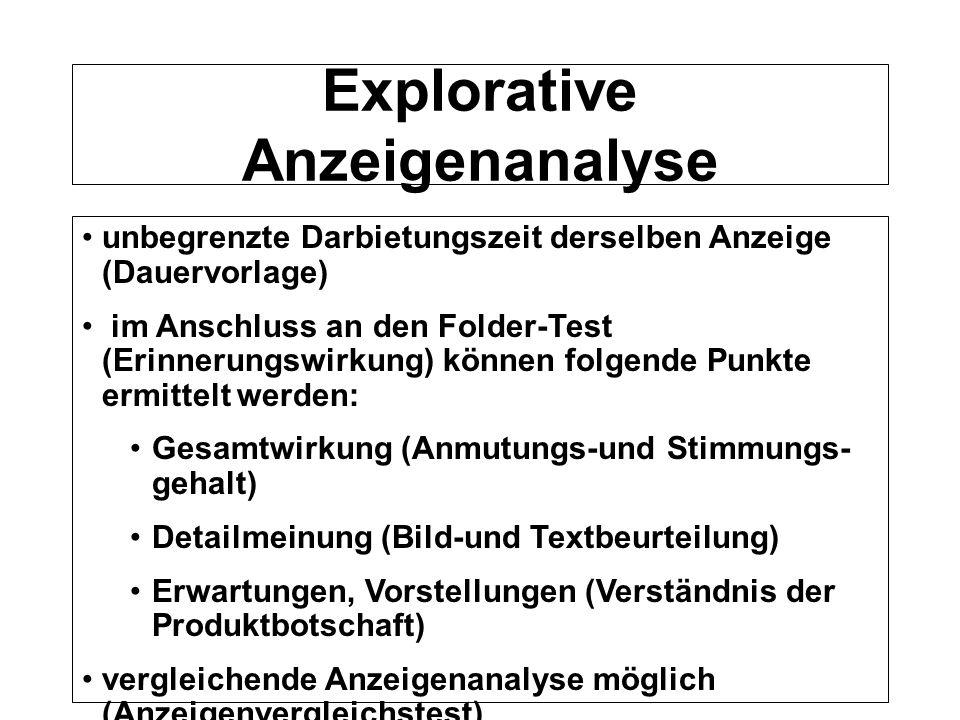 Explorative Anzeigenanalyse