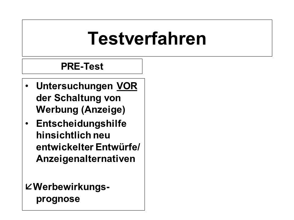 Testverfahren PRE-Test