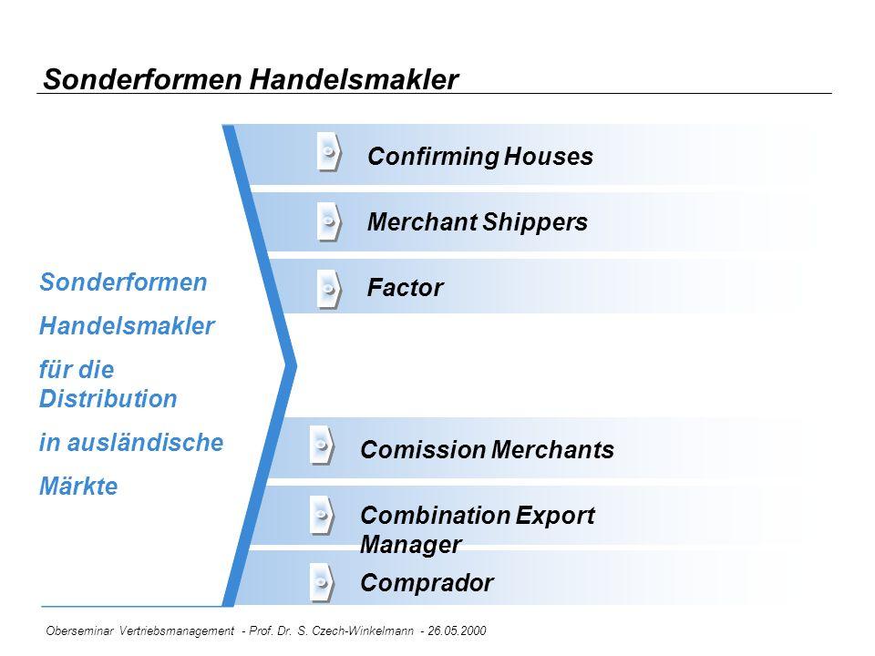 Sonderformen Handelsmakler
