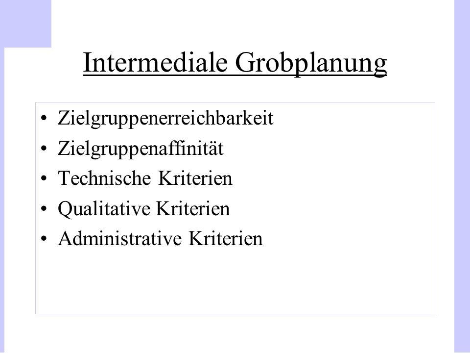 Intermediale Grobplanung