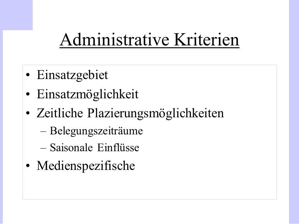 Administrative Kriterien