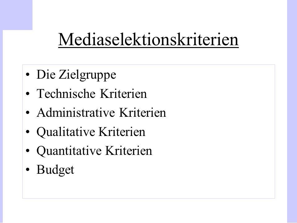 Mediaselektionskriterien