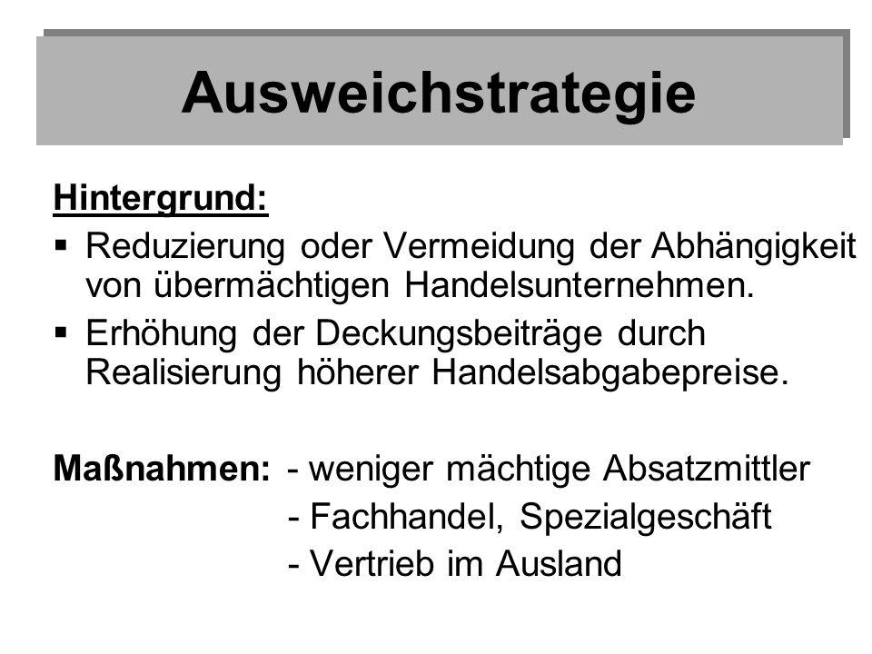Ausweichstrategie Hintergrund: