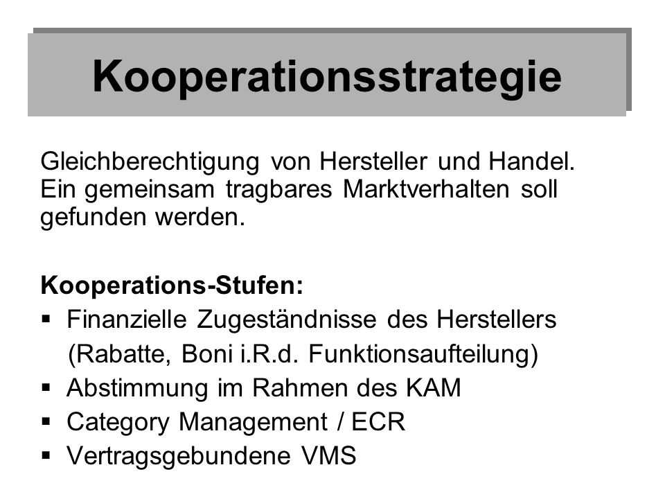 Kooperationsstrategie