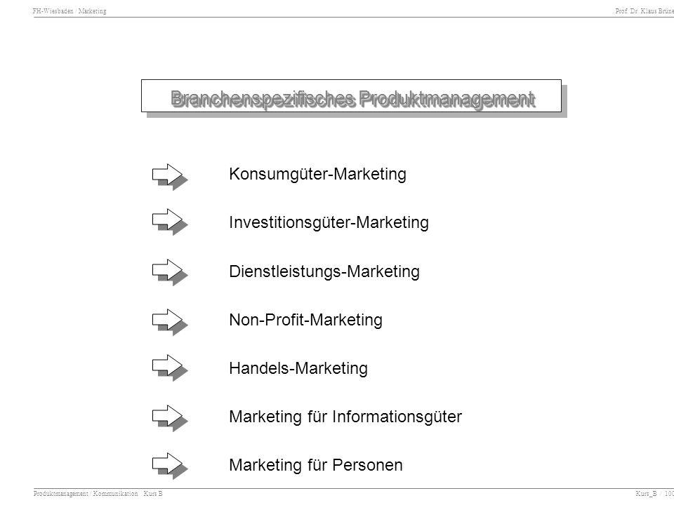 Branchenspezifisches Produktmanagement