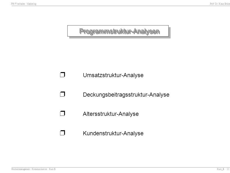 r Umsatzstruktur-Analyse r Deckungsbeitragsstruktur-Analyse