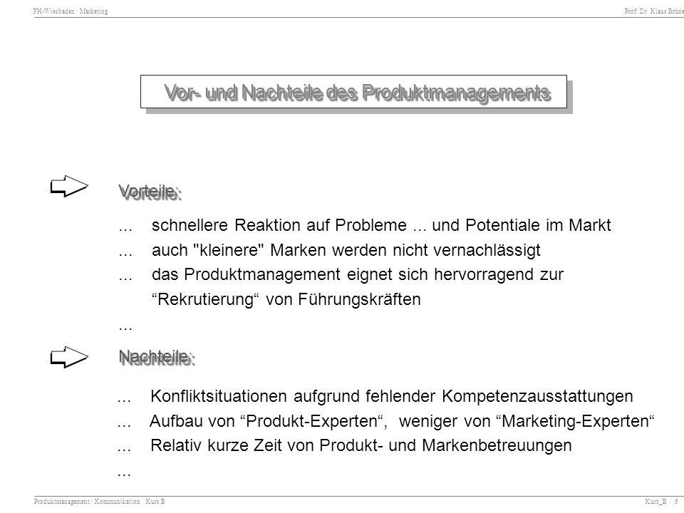 Vor- und Nachteile des Produktmanagements