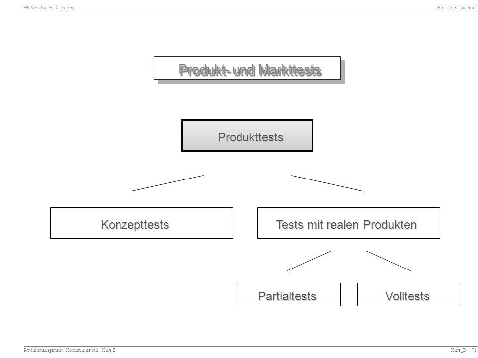Produkt- und Markttests