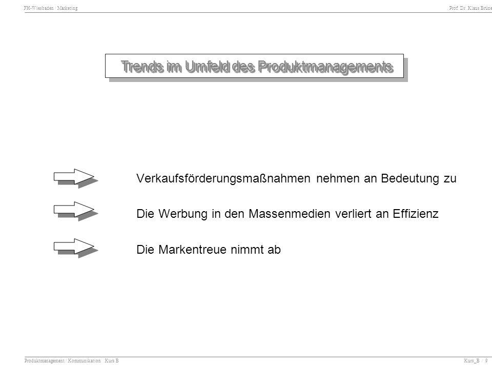 Trends im Umfeld des Produktmanagements
