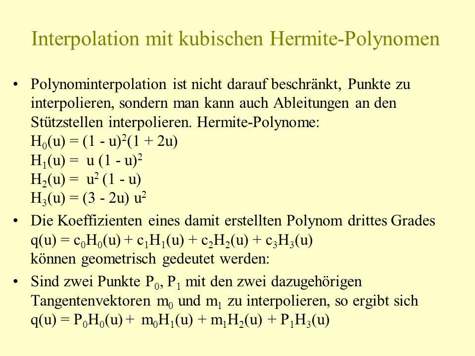 Interpolation mit kubischen Hermite-Polynomen
