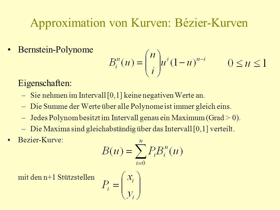 Approximation von Kurven: Bézier-Kurven