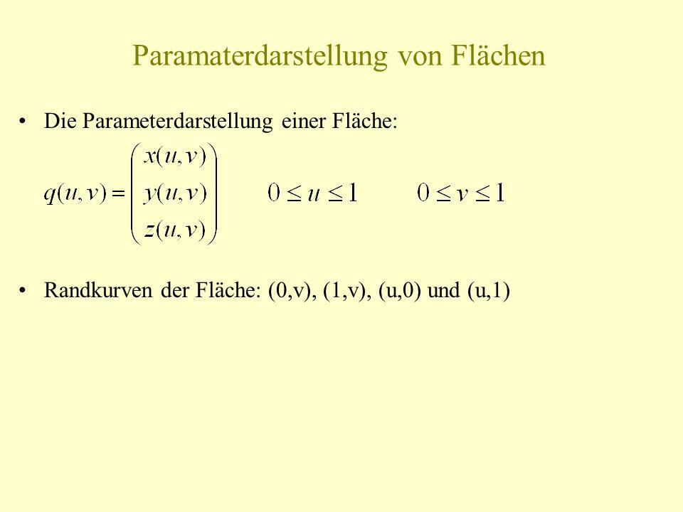 Paramaterdarstellung von Flächen