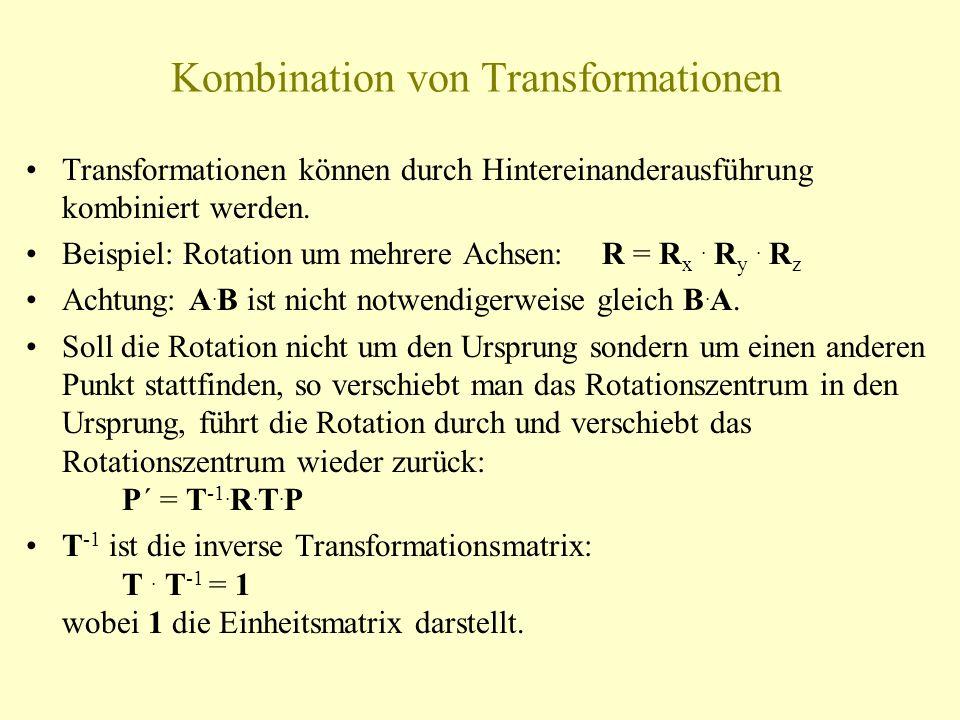 Kombination von Transformationen