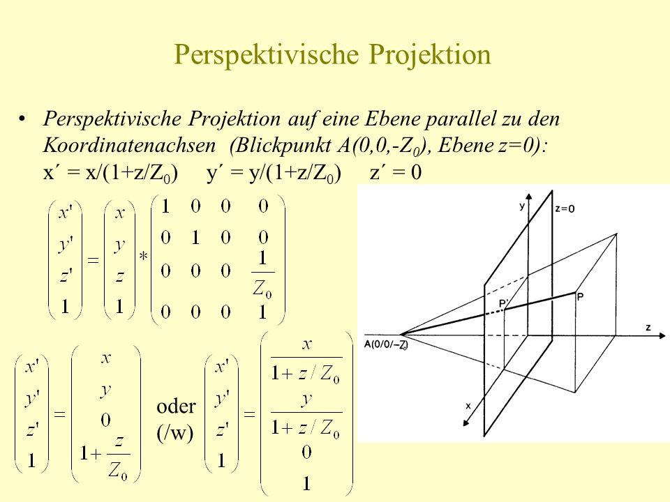 Perspektivische Projektion