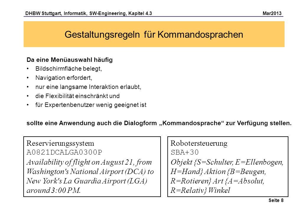 Gestaltungsregeln für Kommandosprachen