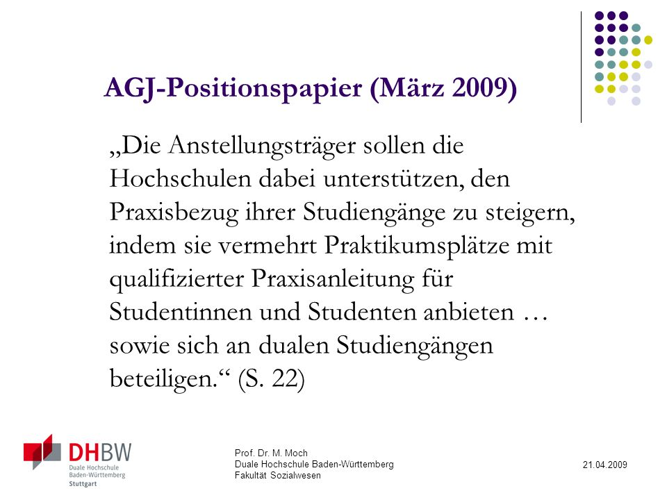 AGJ-Positionspapier (März 2009)