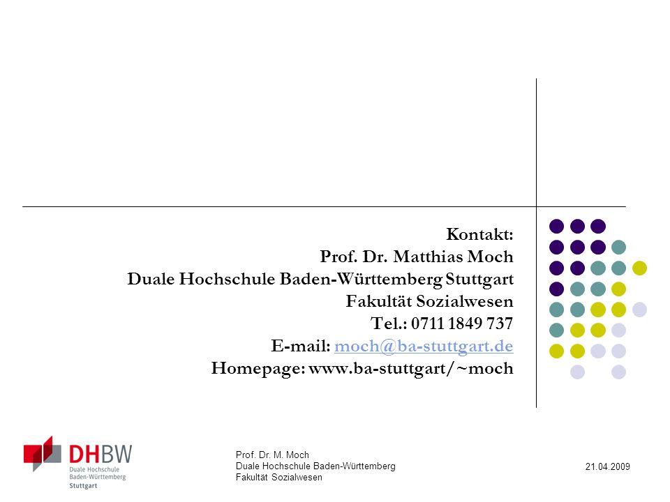 Duale Hochschule Baden-Württemberg Stuttgart Fakultät Sozialwesen