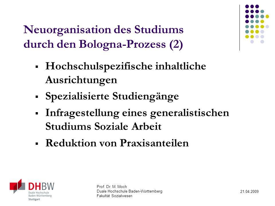 Neuorganisation des Studiums durch den Bologna-Prozess (2)