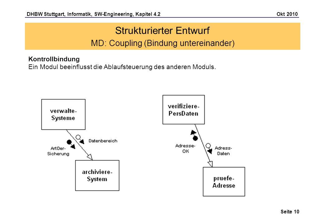 Strukturierter Entwurf MD: Coupling (Bindung untereinander)