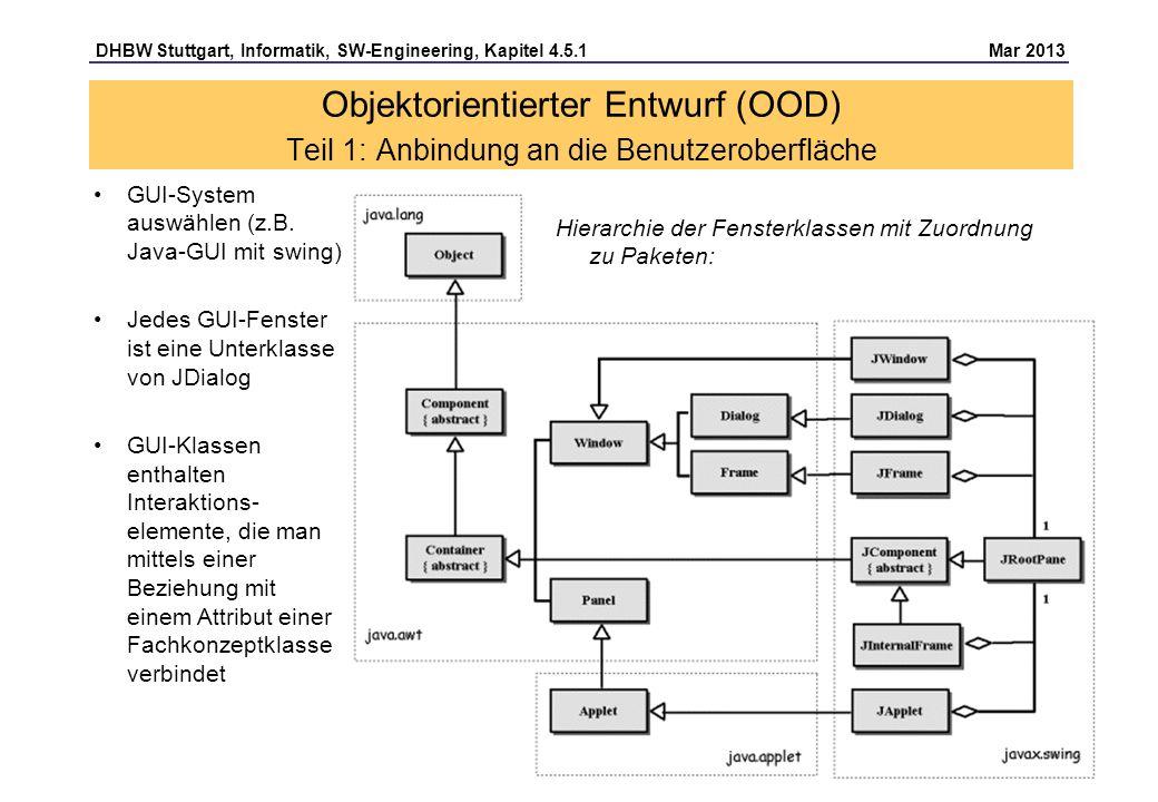 Objektorientierter Entwurf (OOD) Teil 1: Anbindung an die Benutzeroberfläche