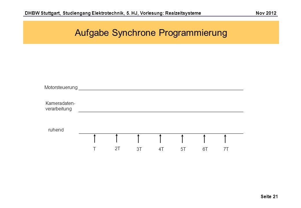 Aufgabe Synchrone Programmierung