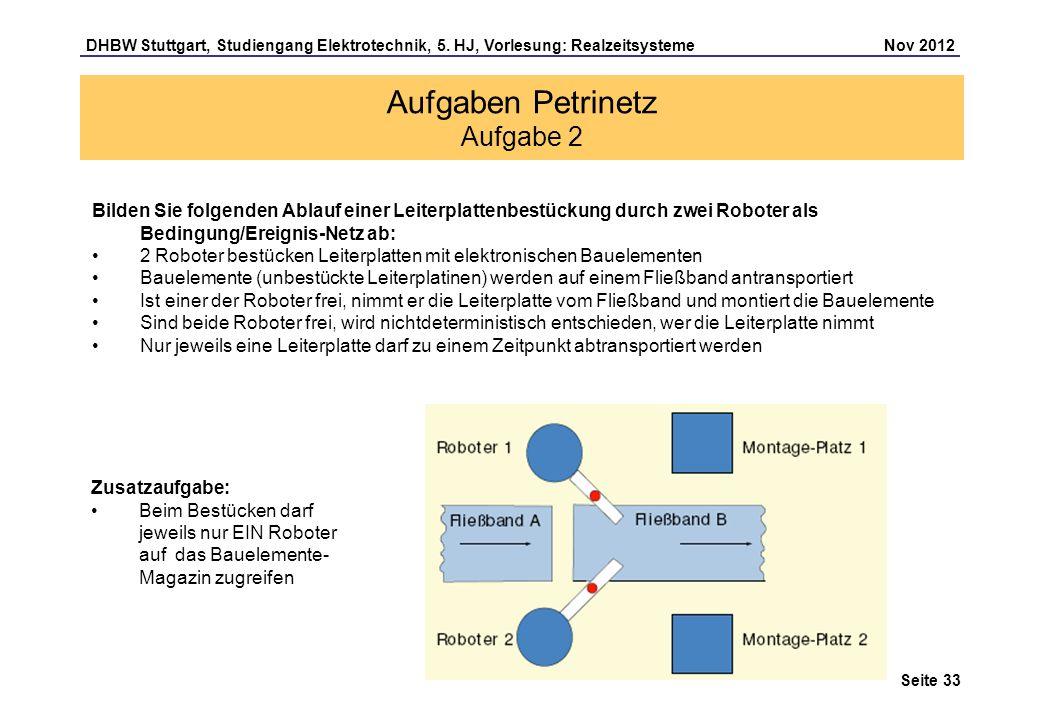 Aufgaben Petrinetz Aufgabe 2