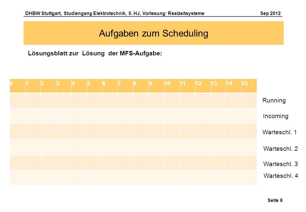 Aufgaben zum Scheduling