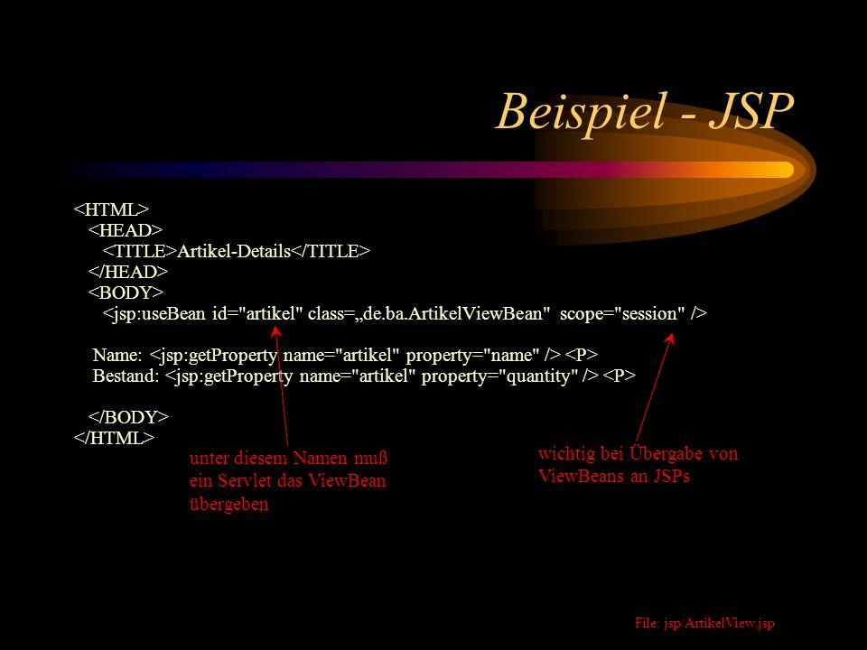 Beispiel - JSP <HTML> <HEAD>