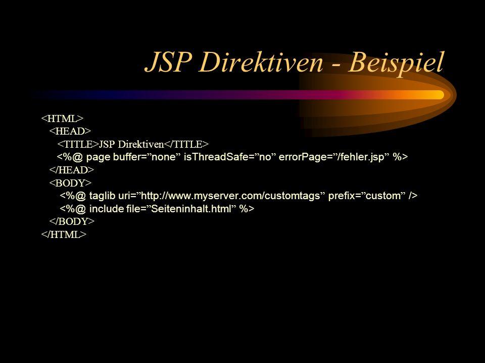 JSP Direktiven - Beispiel
