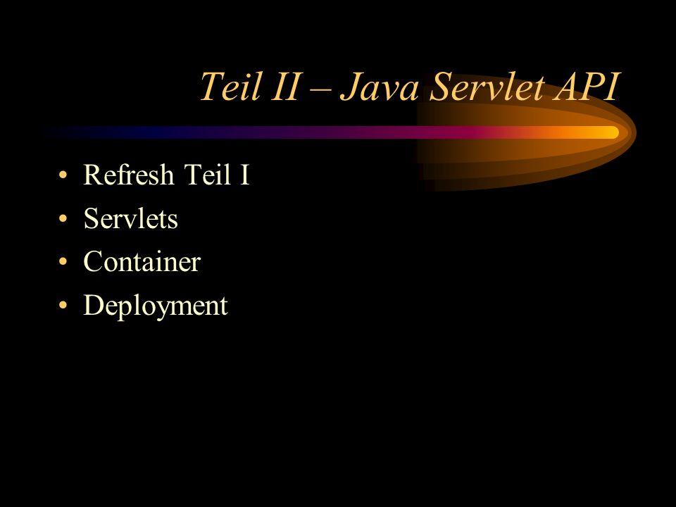 Teil II – Java Servlet API