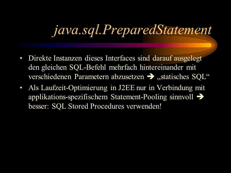 java.sql.PreparedStatement